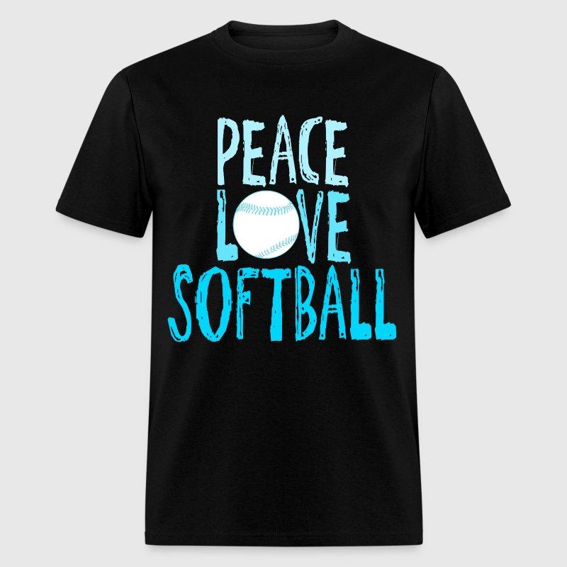 Peace Love Softball T Shirt Spreadshirt