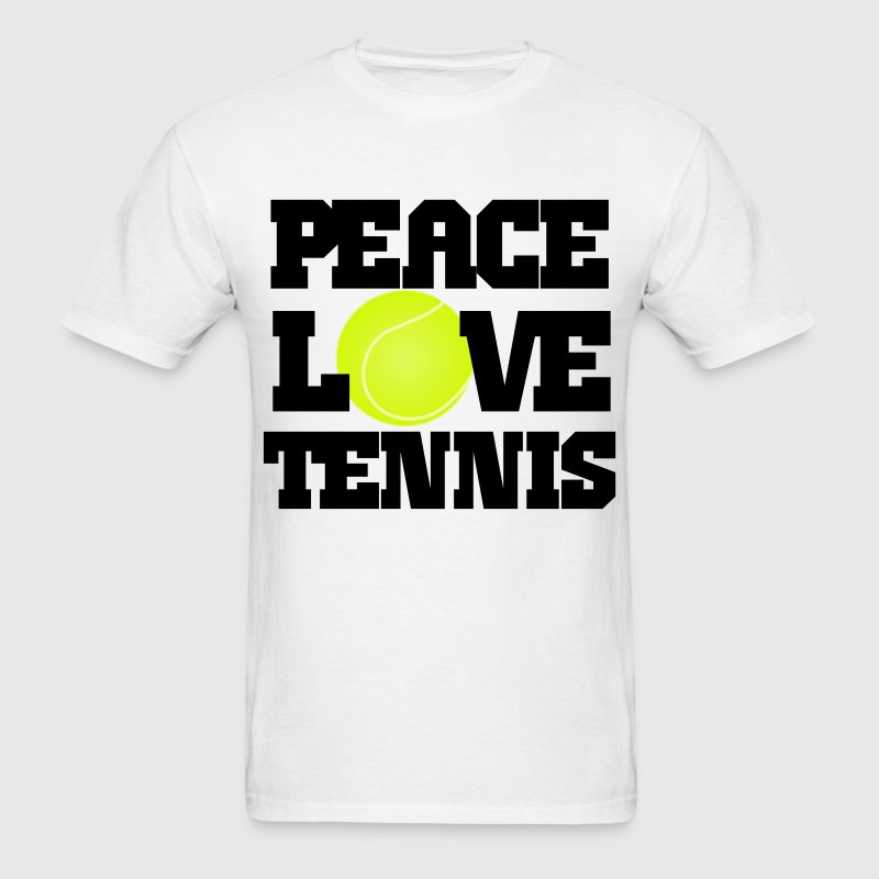 Peace, Love, Tennis T-Shirts - Men's T-Shirt
