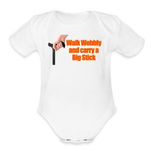 Walk wobbly - Short Sleeve Baby Bodysuit