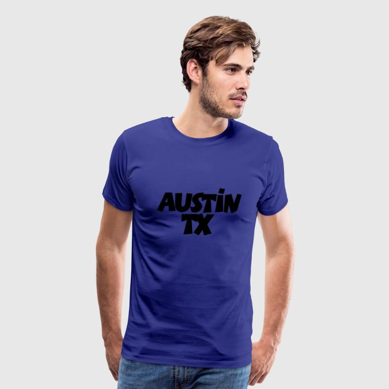 Austin TX T-Shirt (Men Blue/White) - Men's Premium T-Shirt