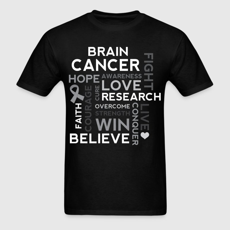 Brain Cancer Hope Fight Overcome T-Shirts - Men's T-Shirt