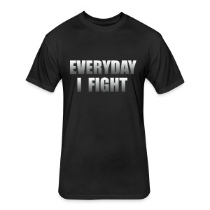 Everyday I Fight ESPN Stuart Cancer - Fitted Cotton/Poly T-Shirt by Next Level