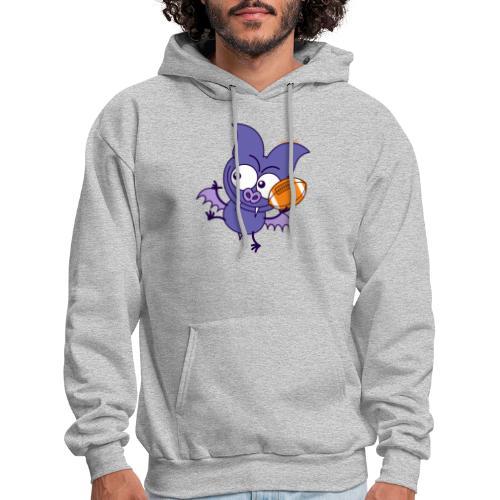 Purple Bat Playing Football Long Sleeve Shirts - Men's Hoodie