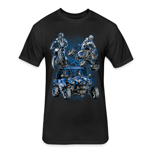 Extreme Racing Sports - Fitted Cotton/Poly T-Shirt by Next Level