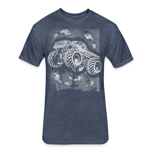 Big Foot Monster Truck Shirt - Fitted Cotton/Poly T-Shirt by Next Level