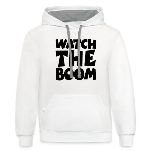 Sailing T-Shirt Watch the Boom (Men White/Black) - Contrast Hoodie
