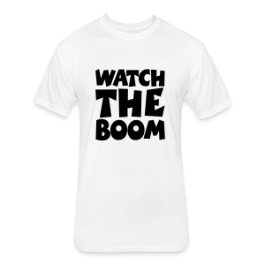 Sailing T-Shirt Watch the Boom (Men White/Black) - Fitted Cotton/Poly T-Shirt by Next Level