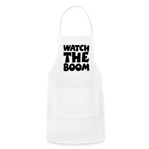 Sailing T-Shirt Watch the Boom (Men White/Black) - Adjustable Apron
