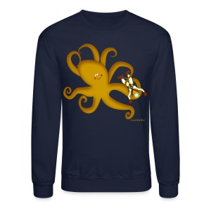 Octopus & Diver Men's T - Crewneck Sweatshirt
