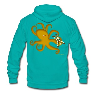 Octopus & Diver Men's T - Unisex Fleece Zip Hoodie