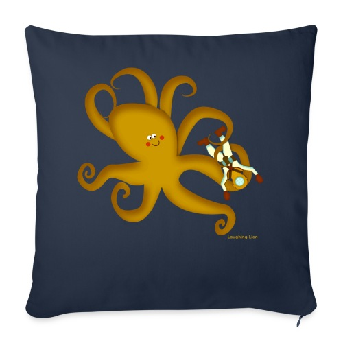 Octopus & Diver - Throw Pillow Cover