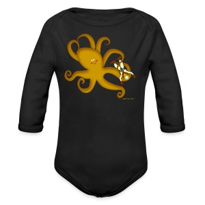 Octopus & Diver - Long Sleeve Baby Bodysuit