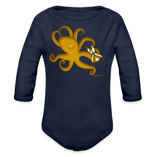 Octopus & Diver - Organic Long Sleeve Baby Bodysuit