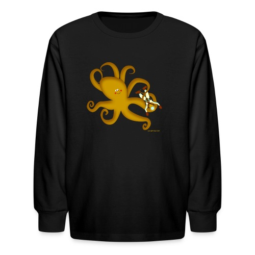 Octopus & Diver - Kids' Long Sleeve T-Shirt