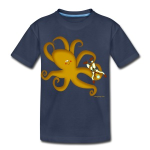 Octopus & Diver - Toddler Premium T-Shirt