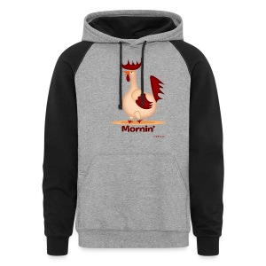 Mornin' Rooster Men's T - Colorblock Hoodie
