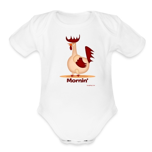 Rooster T-Shirt - Organic Short Sleeve Baby Bodysuit