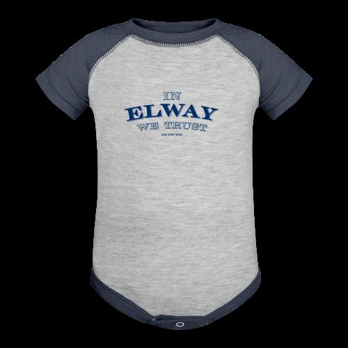 In Elway We Trust - Mens - T-Shirt - NP - Contrast Baby Bodysuit