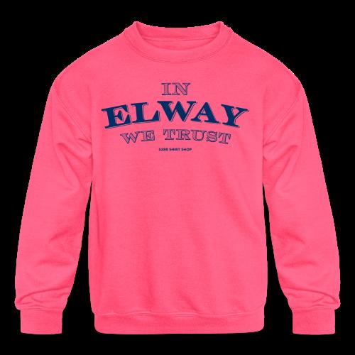 In Elway We Trust - Mens - T-Shirt - NP - Kids' Crewneck Sweatshirt
