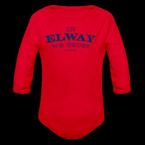 In Elway We Trust - Mens - T-Shirt - NP - Organic Long Sleeve Baby Bodysuit