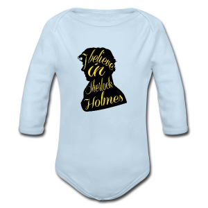 I Believe in Sherlock Holmes - Crew-neck - Long Sleeve Baby Bodysuit