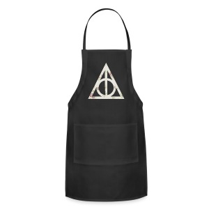 Deathly Hallows (Floral) - Tote Bag - Adjustable Apron