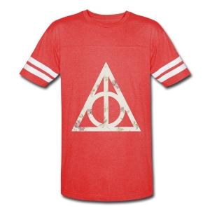 Deathly Hallows (Floral) - Men's T-Shirt - Vintage Sport T-Shirt