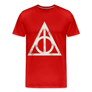Deathly Hallows (Floral) - Men's T-Shirt - Men's Premium T-Shirt