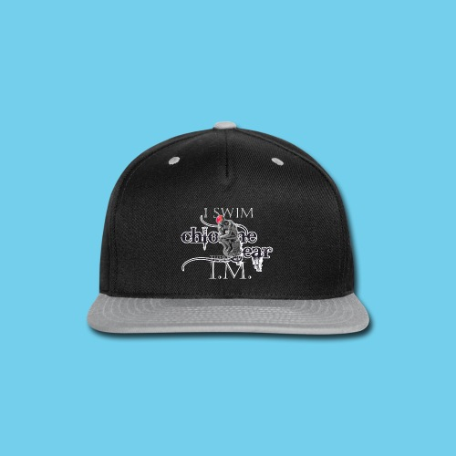 I Swim, therefore IM- Youth Tee - Snap-back Baseball Cap