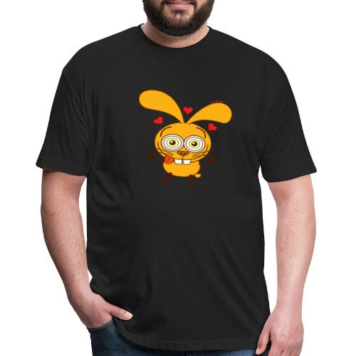 Bunny feeling madly in love Long Sleeve Shirts - Fitted Cotton/Poly T-Shirt by Next Level