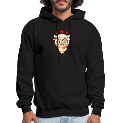 Cute cow falling madly in love Long Sleeve Shirts - Men's Hoodie