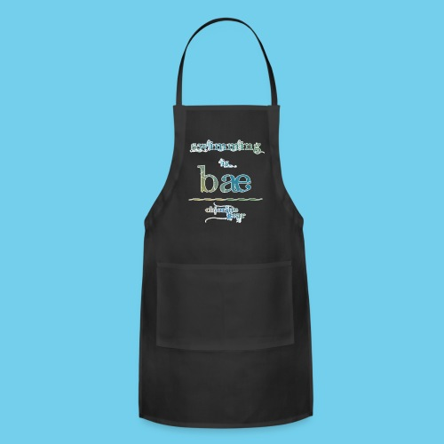 Swimming is Bae- Front side only- Women's LS Tee - Adjustable Apron