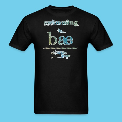 Swimming is Bae- Front side only- Women's LS Tee - Men's T-Shirt