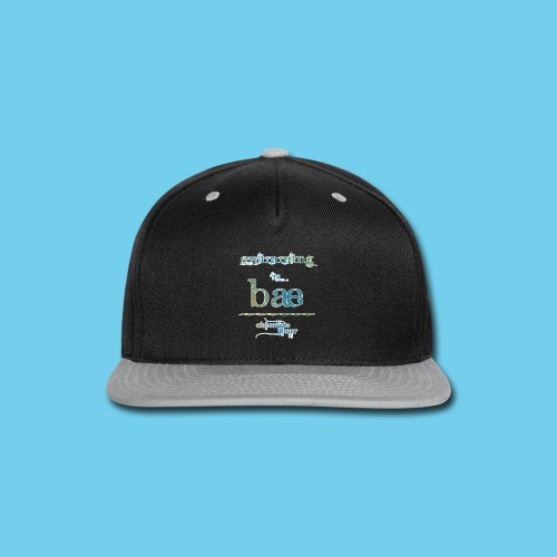Swimming is Bae- Front side only- Women's LS Tee - Snap-back Baseball Cap