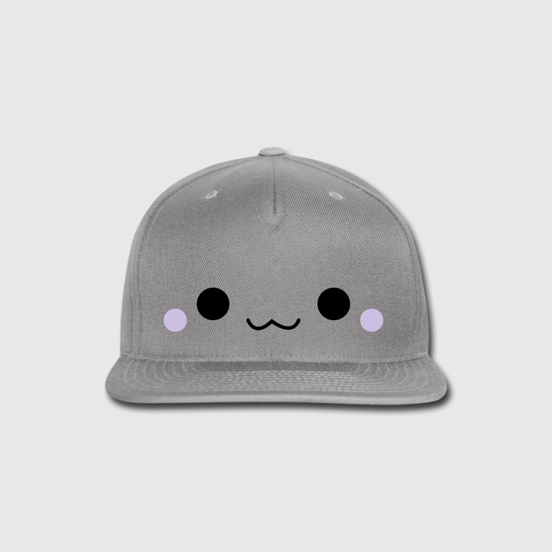 Cute emoticon face Caps - Snap-back Baseball Cap