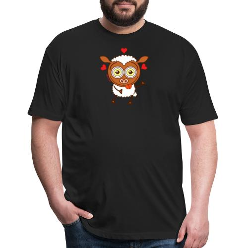 Crazy sheep feeling lucky in love Long Sleeve Shirts - Fitted Cotton/Poly T-Shirt by Next Level