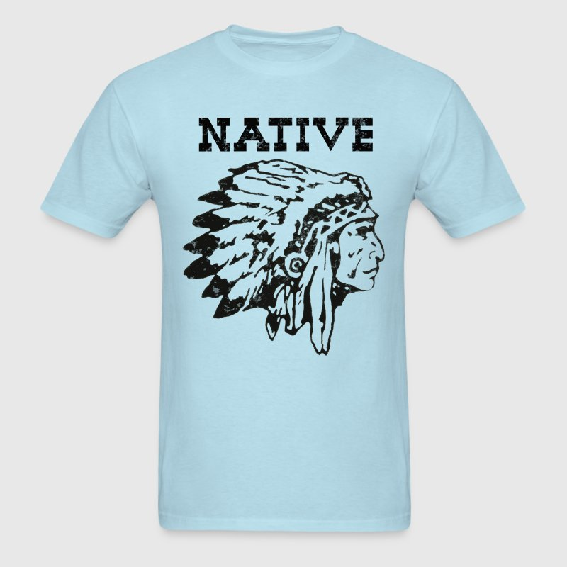 Womens Native American Indian Chief Vintage design - Men's T-Shirt