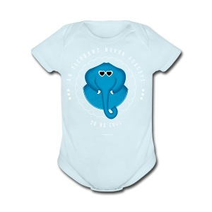 An Elephant Never Forgets - Short Sleeve Baby Bodysuit