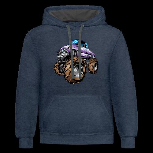Purple Mega Truck - Contrast Hoodie