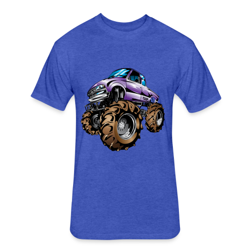 Purple Mega Truck - Fitted Cotton/Poly T-Shirt by Next Level