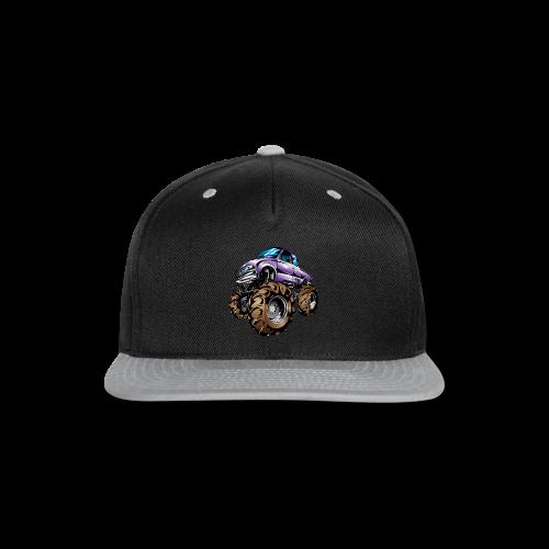 Purple Mega Truck - Snap-back Baseball Cap