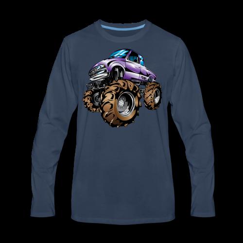 Purple Mega Truck - Men's Premium Long Sleeve T-Shirt