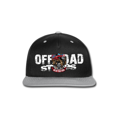 Mud Nation Mega Truck BACK - Snap-back Baseball Cap