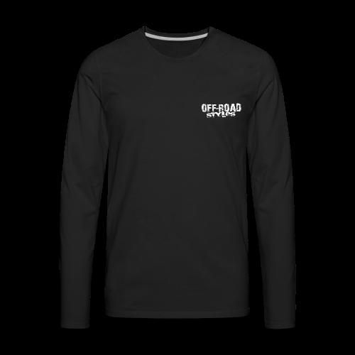 Mud Nation Mega Truck BACK - Men's Premium Long Sleeve T-Shirt