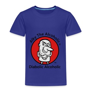 Alky The Alcoholic - Diabolic Alcoholic - Toddler Premium T-Shirt