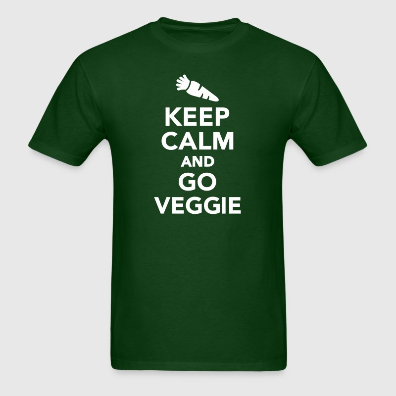 Keep calm and go Veggie T-Shirts - Men's T-Shirt