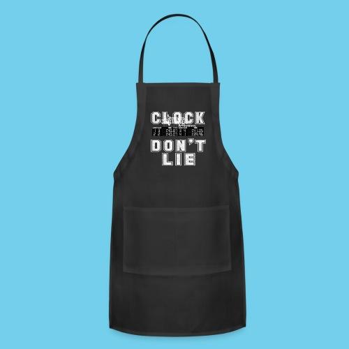 Clock don't lie- Men's Ringneck Tee - Adjustable Apron
