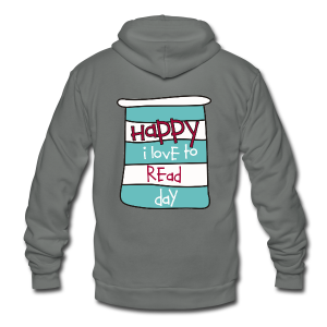 Happy I Love to Read Day - Unisex Fleece Zip Hoodie by American Apparel