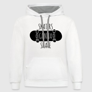 Skaters gonna skate Women's T-Shirts - Contrast Hoodie