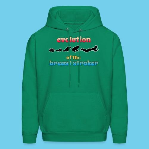Evolution of the BreastStroker- Men's Tee- Front Design, Rear Mini Logo - Men's Hoodie
